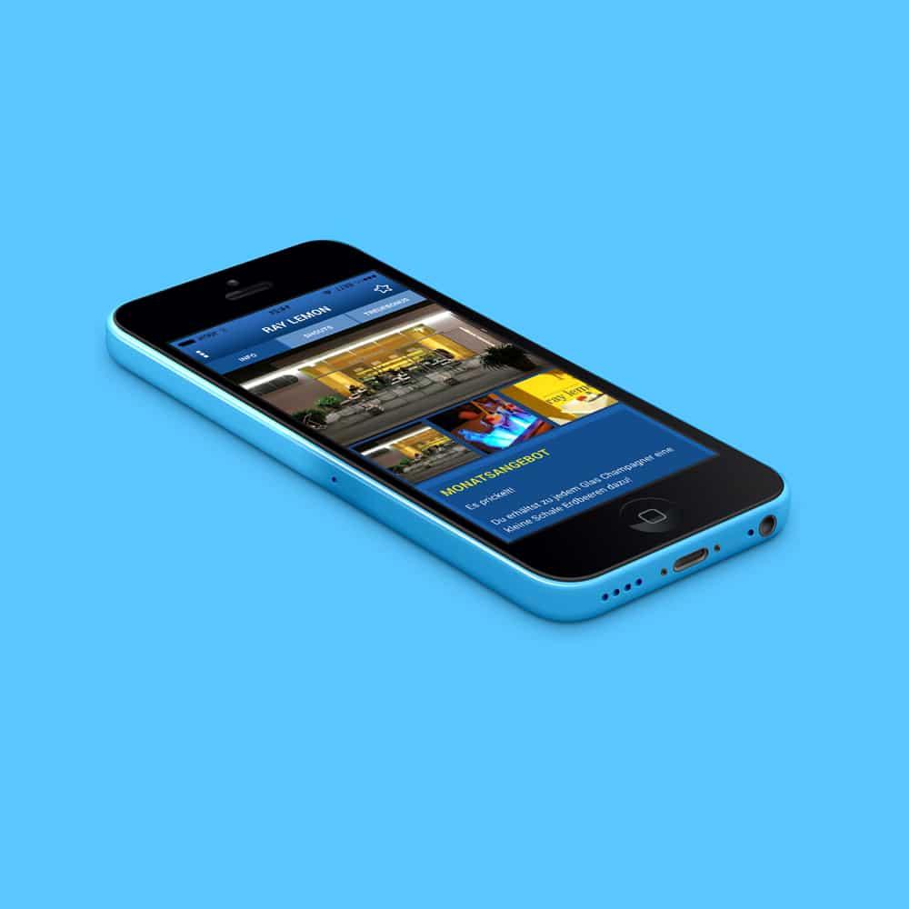 Ansicht GetBlue App