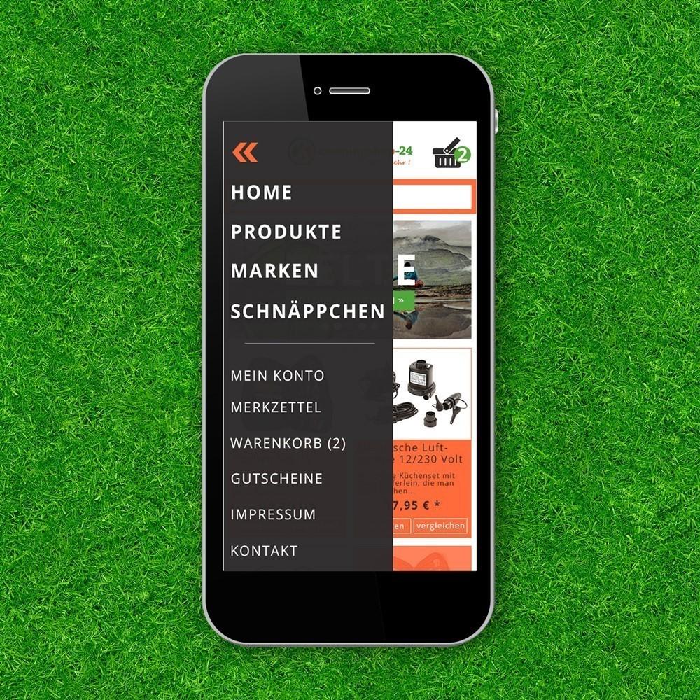 Mobilansicht Screendesign