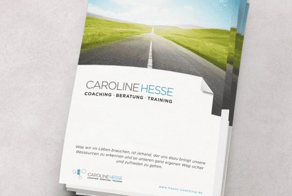Titelseite Caroline Hesse Broschüre