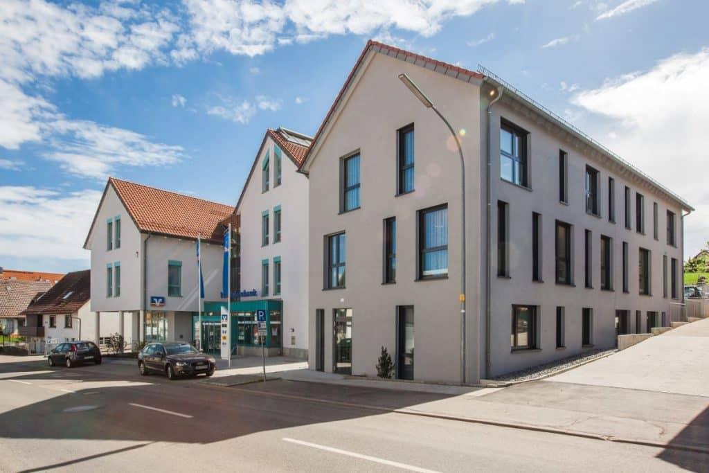 Architekturaufnahme der Raiffeisenbank